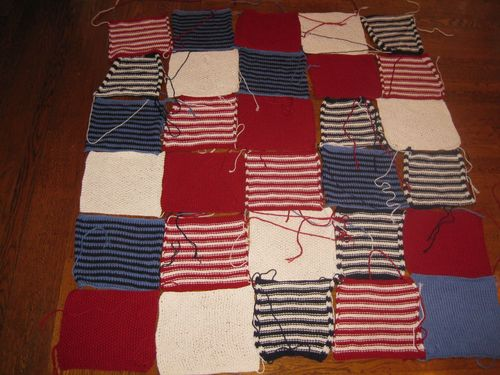 Unsewn squares