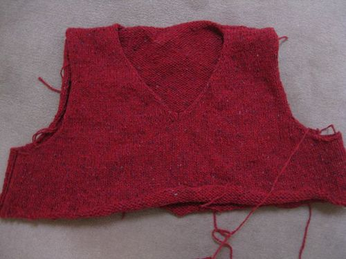 Red sweater wip