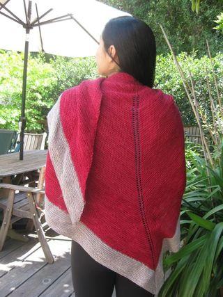 Red grey shawl2