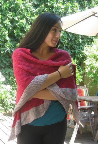 Red grey shawl4
