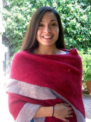 Red grey shawl6