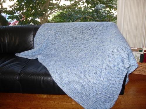 Mohair and merino blanket
