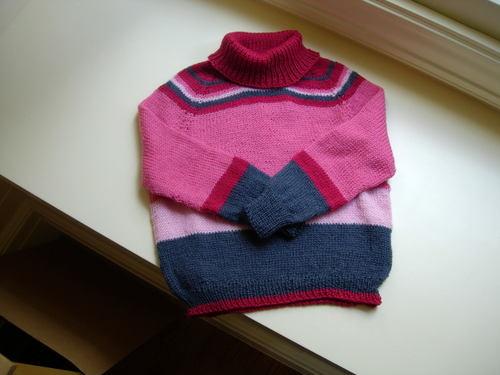 Top down raglan pullover