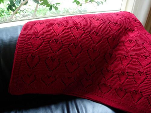 Knitting Pattern Heart Blanket : knitting 2007: Heart Blanket