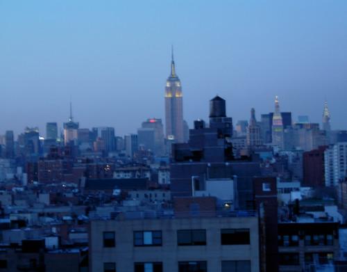 Manhattan skyline, evening